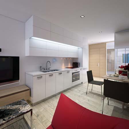 Tủ bếp đơn giản và đẹp